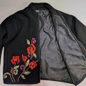 Icelandic Design 100% Wool Front Zip Jacket